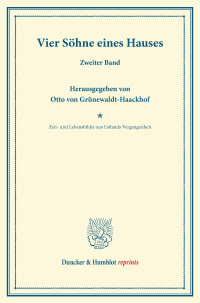Cover Vier Söhne eines Hauses