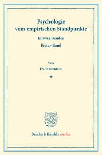 Cover Psychologie vom empirischen Standpunkte