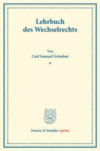 Cover Lehrbuch des Wechselrechts