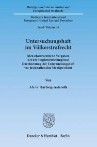 Cover Untersuchungshaft im Völkerstrafrecht