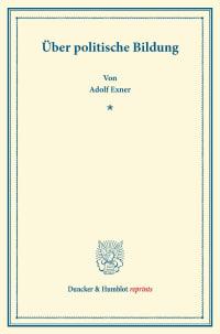 Cover Über politische Bildung