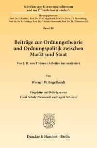 Cover Beiträge zur Ordnungstheorie und Ordnungspolitik zwischen Markt und Staat