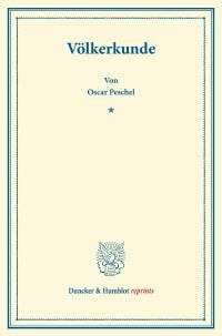 Cover Völkerkunde