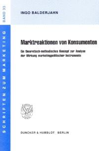 Cover Marktreaktionen von Konsumenten