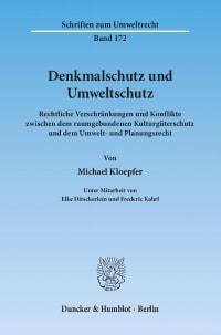 Cover Denkmalschutz und Umweltschutz