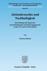 Cover Aktionärsrechte und Nachhaltigkeit