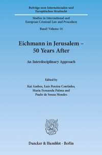 Cover Eichmann in Jerusalem – 50 Years After