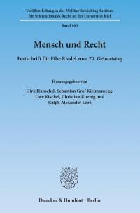 Cover Mensch und Recht