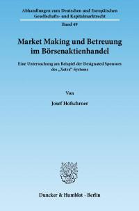 Cover Market Making und Betreuung im Börsenaktienhandel