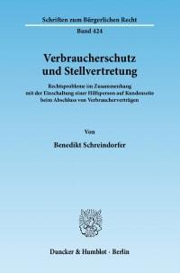 Cover Verbraucherschutz und Stellvertretung