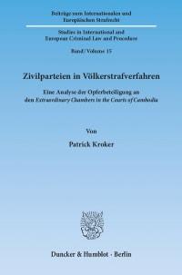 Cover Zivilparteien in Völkerstrafverfahren