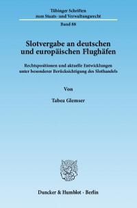 Cover Slotvergabe an deutschen und europäischen Flughäfen