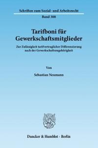 Cover Tarifboni für Gewerkschaftsmitglieder