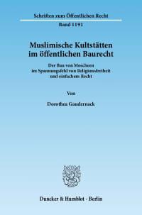 Cover Muslimische Kultstätten im öffentlichen Baurecht