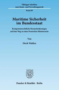 Cover Maritime Sicherheit im Bundesstaat