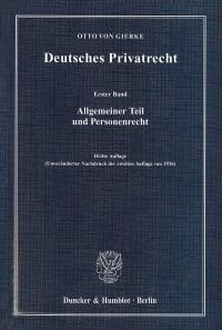 Cover Deutsches Privatrecht