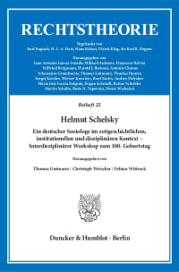 Cover Helmut Schelsky