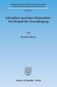 Cover Sekundärer maritimer Klimaschutz: Das Beispiel der Ozeandüngung