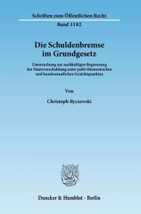 Cover Die Schuldenbremse im Grundgesetz