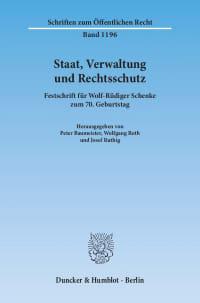 Cover Staat, Verwaltung und Rechtsschutz
