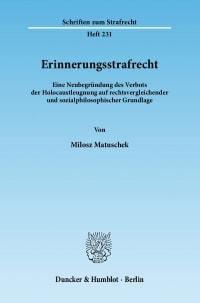 Cover Erinnerungsstrafrecht