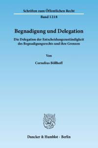 Cover Begnadigung und Delegation
