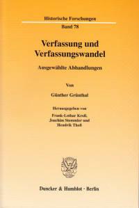 Cover Verfassung und Verfassungswandel