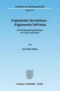 Cover Argumenta Iuventiana – Argumenta Salviana