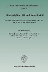 Cover Interdisziplinarität und Komplexität