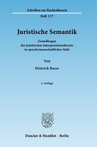 Cover Juristische Semantik