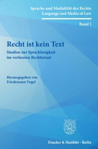 Cover Recht ist kein Text