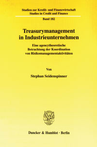 Cover Treasurymanagement in Industrieunternehmen