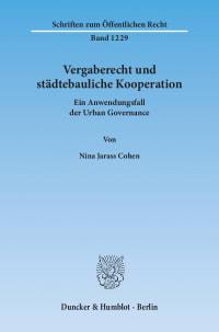 Cover Vergaberecht und städtebauliche Kooperation