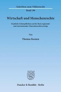 Cover Wirtschaft und Menschenrechte