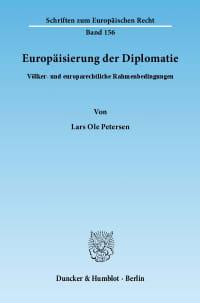 Cover Europäisierung der Diplomatie