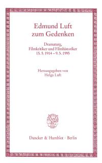 Cover Edmund Luft zum Gedenken