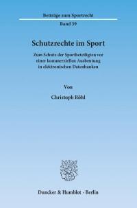 Cover Schutzrechte im Sport