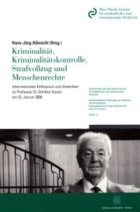 Cover Kriminalität, Kriminalitätskontrolle, Strafvollzug und Menschenrechte