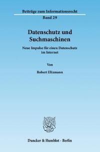 Cover Datenschutz und Suchmaschinen
