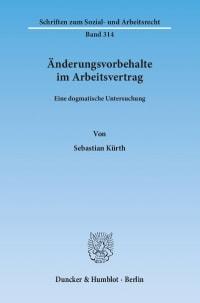 Cover Änderungsvorbehalte im Arbeitsvertrag