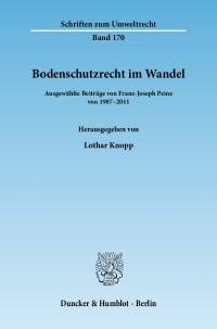 Cover Bodenschutzrecht im Wandel