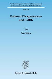 Cover Enforced Disappearances und EMRK
