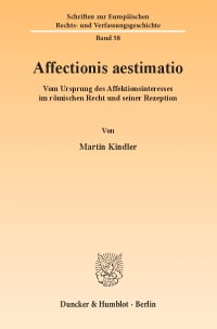 Cover Affectionis aestimatio