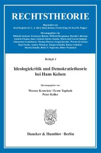 Cover Ideologiekritik und Demokratietheorie bei Hans Kelsen