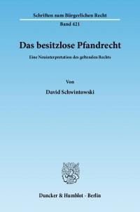 Cover Das besitzlose Pfandrecht