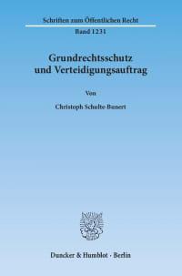 Cover Grundrechtsschutz und Verteidigungsauftrag