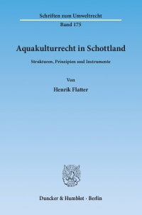 Cover Aquakulturrecht in Schottland