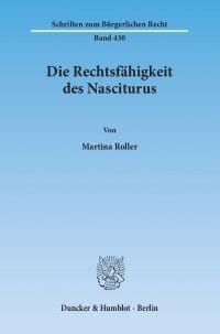 Cover Die Rechtsfähigkeit des Nasciturus