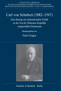 Cover Carl von Schubert (1882–1947)