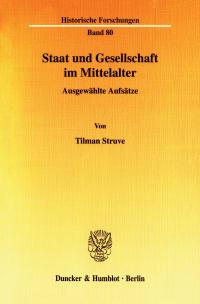 Cover Staat und Gesellschaft im Mittelalter